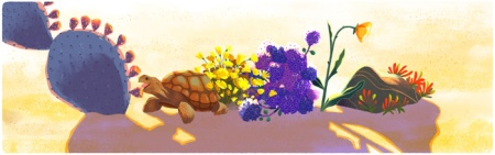 Google Doodles Desert and Tortoise