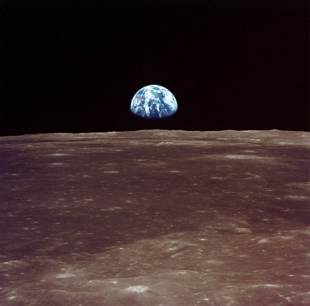 Earth from Moon Apollo 11
